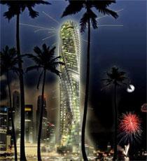 Вращающиеся небоскребы Москва-Дубаи-Нью-Йорк