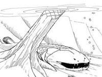 Древняя рыба с зубами