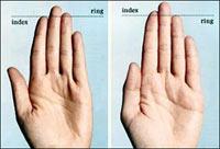 Мужчины и женщины отличаются пальцами