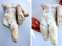 Найдена необычная статуя