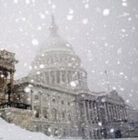 На США обрушились стихийные снегопады