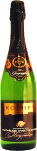 Вино «Российское игристое Корнет» белое полусладкое