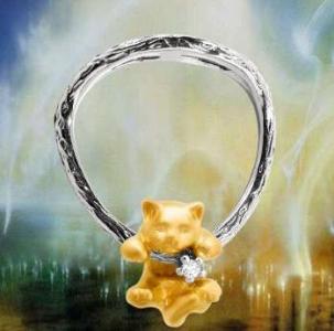 Кольцо кулон Киса