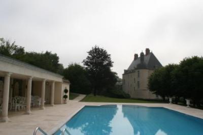 Замок Франции с бассейном