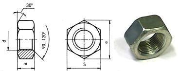 Гайки шестигранные DIN 934