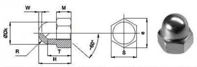 Гайки колпачковые DIN 1587