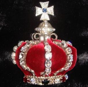 Брошь британская корона
