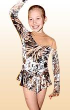 Платье с камнями для фигурного катания