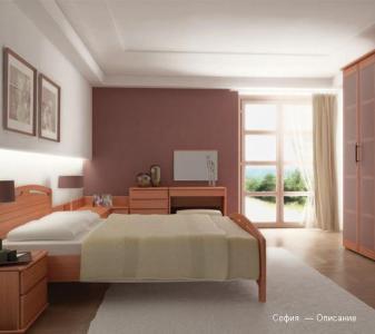 Коричневая спальня из дерева