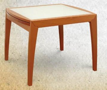 Стол со стеклом буковый