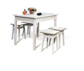 Обеденный стол белый