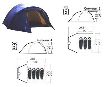 Туристическая палатка Снежная