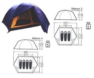 Туристическая палатка Байкал