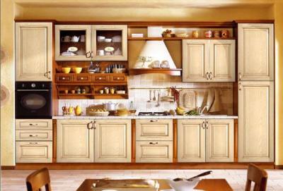 Стильная кухня из дерева
