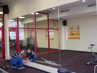 Зеркала для фитнес клубов