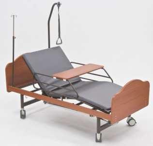 Кровать функциональная c механическим приводом на ножках