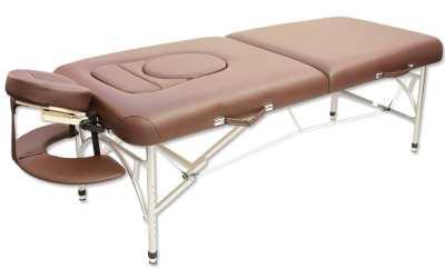 Складной массажный стол коричневый