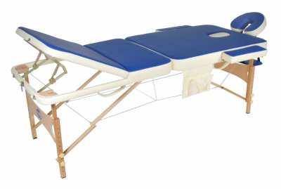 Трехсекционный переносной массажный стол