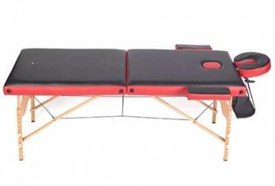 Двухсекционный деревянный массажный стол