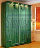 Зеленый шкаф купе в гостиную