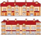 Фасады таунхаусов Дубровка